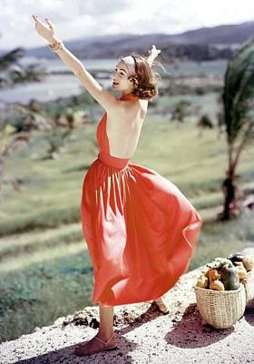 Model Wearing Sundress Art Print