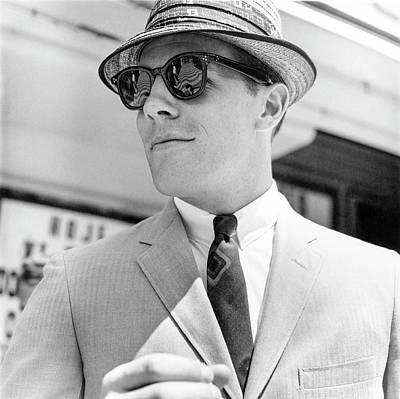 Model Wearing Sunglasses Art Print by Richard Waite