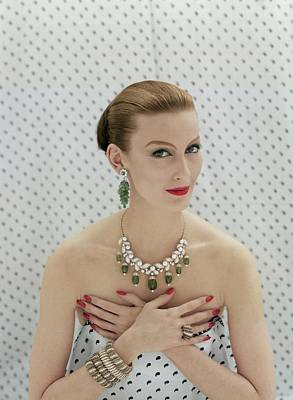 Earrings Photograph - Model Wearing Van Cleef & Arples Jewellery by Richard Rutledge
