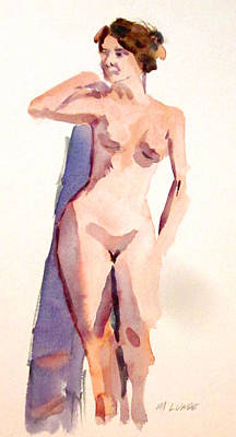 Painting - Model Wit Robeh by Mark Lunde