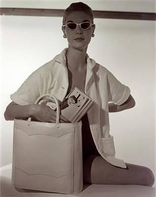 Model With A Josef Bag Art Print