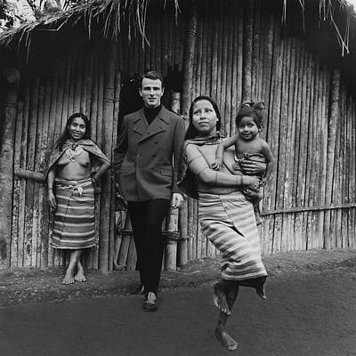 Photograph - Model With Native American Women by Leonard Nones