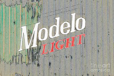 Photograph - Modelo Light by Liz Leyden