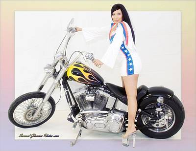 Photograph - Models And Motorcycles_m by Walter Herrit