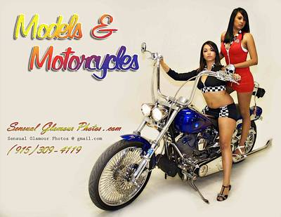 Photograph - Models And Motorcycles_r by Walter Herrit