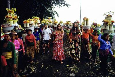 Photograph - Models During Procession In Bali by Arnaud de Rosnay