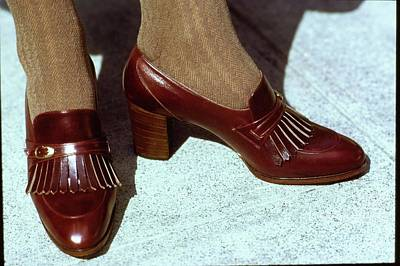 Photograph - Model's Feet Wearing Julianelli Shoes by Arthur Elgort