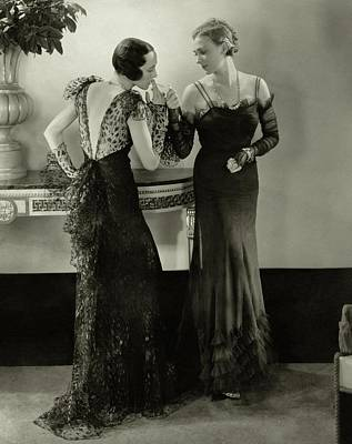 Photograph - Models In Evening Gowns by Edward Steichen