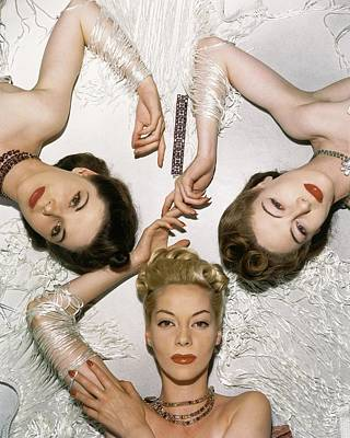 Muriel Photograph - Models Lying Down by Horst P. Horst