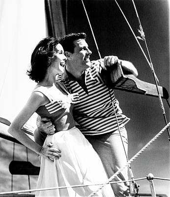 Young Man Photograph - Models On A Sailboat by Richard Waite