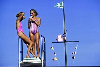 Photograph - Models Wearing Bathing Suits by Arthur Elgort