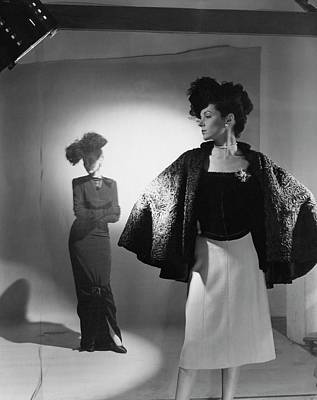 1940s Fashion Photograph - Models Wearing Bergdorf Goodman Clothing by Cecil Beaton