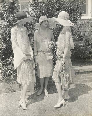 Chiffon Photograph - Models Wearing Chiffon Dresses by Edward Steichen