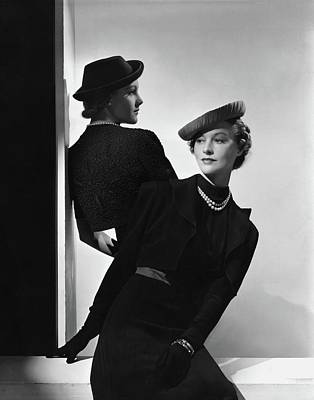 1930s Fashion Photograph - Models Wearing Hats by Horst P. Horst