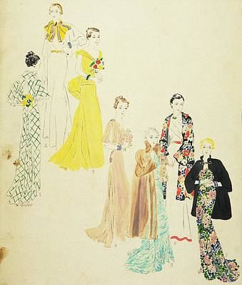 Models Wearing Jay-thorpe And Lillian Sloane Art Print