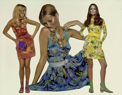 Fashion Photography Photograph - Models Wearing Ken Scott Dresses by Gianni Penati