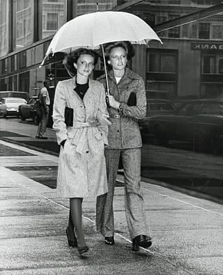 Donegal Photograph - Models Wearing Sandy Kane Ensembles by Kourken Pakchanian