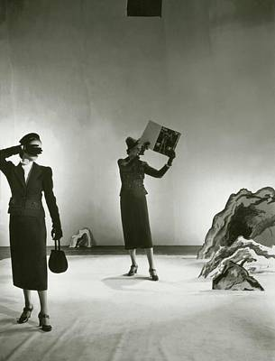 1930s Fashion Photograph - Models Wearing Schiaparelli Suits by Cecil Beaton