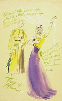 Models With Outfit Descriptions Art Print by R.S. Grafstrom