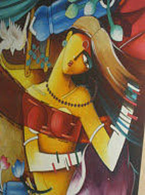 Indian Sex Painting - Abstract Modern Art by Varsha