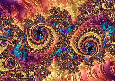 Digital Art - Modern Abstract Art With Warm Colors by Matthias Hauser