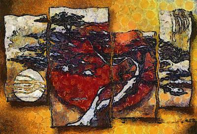 Painting - Modern Abstract Huge Wall Art by Teara Na