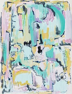 Contemporary Abstract Painting - Modern Abstract by Rosalina Bojadschijew