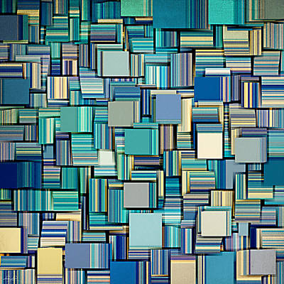 Square Art Digital Art - Modern Abstract Xxiv by Lourry Legarde