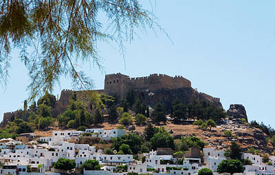 Photograph - Modern And Ancient In Lindos by Lorraine Devon Wilke