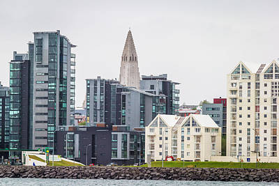 Modern Apartment Buildings Surrounding Art Print