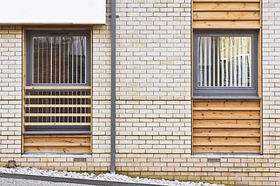 Residential Structure Photograph - Modern Apartment Windows by Tom Gowanlock
