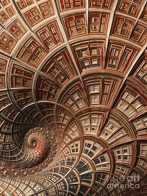 Curves Digital Art - Modern Architecture  by Heidi Smith