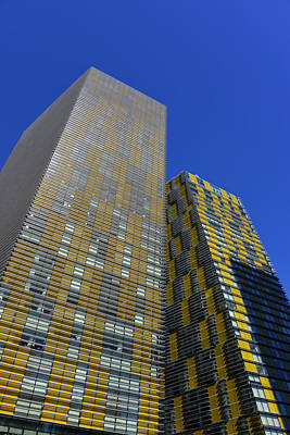 Leaning Building Photograph - Modern Architecture Las Vegas by David Lee Thompson