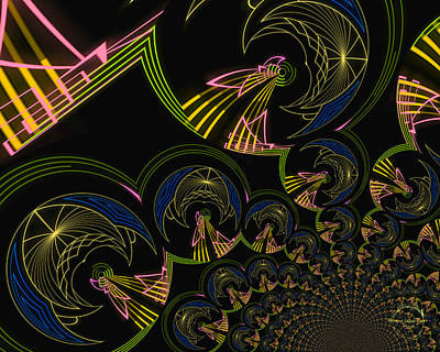 Digital Art - Modern Art Deco by Absinthe Art By Michelle LeAnn Scott
