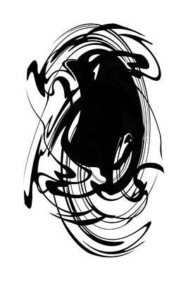 Digital Art - Modern Art In Black And White by rd Erickson