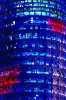 Modern Building At Night Art Print by Ioan Panaite