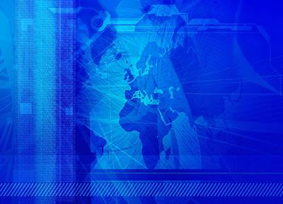 Future Tech Digital Art - Modern Business Abstract by Modern Art Prints