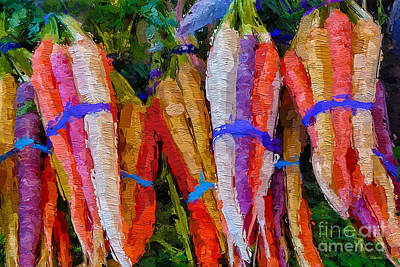 Mixed Media - Modern Carrot Painting by Andrea Auletta