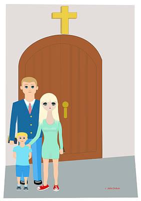 Modern Church Family Art Print