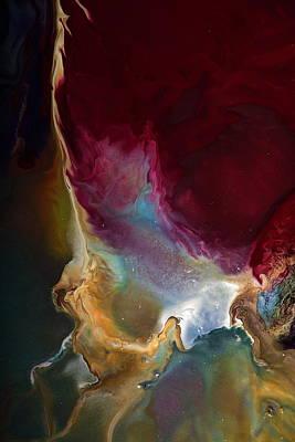 Modern Colorful Earth Tones Abstract Art-achieve The Goal By Kredart Art Print by Serg Wiaderny