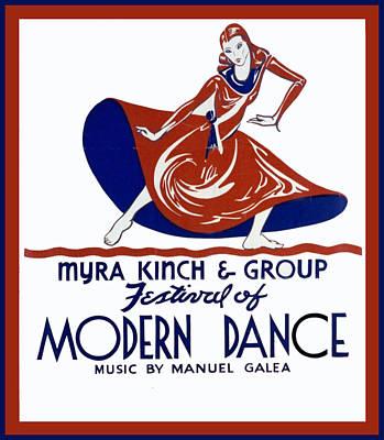 Modern Dance Print by Unknown