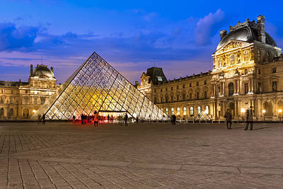 Photograph - Modern Day Ghosts Of The Louvre - Paris by Mark E Tisdale