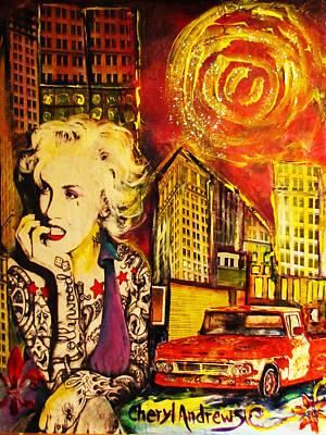 Modern Day Marilyn Trucks And Tattoo's Original by Cheryl Andrews
