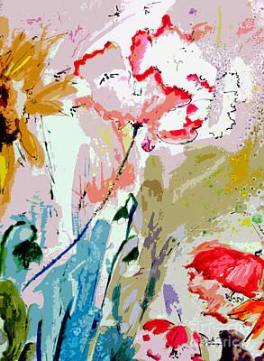 Modern Decorative Expressive Flowers Art Print