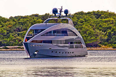 Photograph - Modern Design Hi Tech Luxury Yacht by Brch Photography