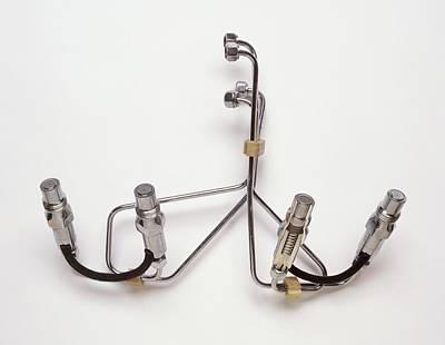 Modern Diesel Fuel Injection System Art Print by Dorling Kindersley/uig