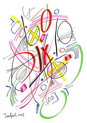 Modern Drawing - Modern Drawing Fifty-three by Lynne Taetzsch