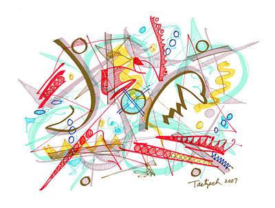 Modern Drawing Ninety-four Art Print by Lynne Taetzsch