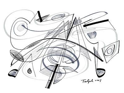 Modern Drawing - Modern Drawing Seventy-seven by Lynne Taetzsch