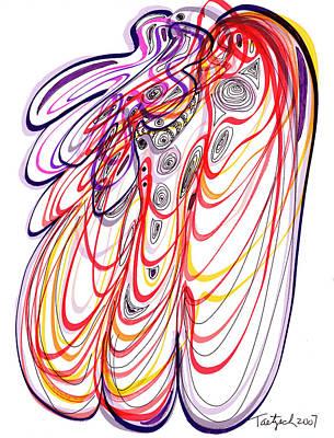 Modern Drawing - Modern Drawing Sixty-three by Lynne Taetzsch